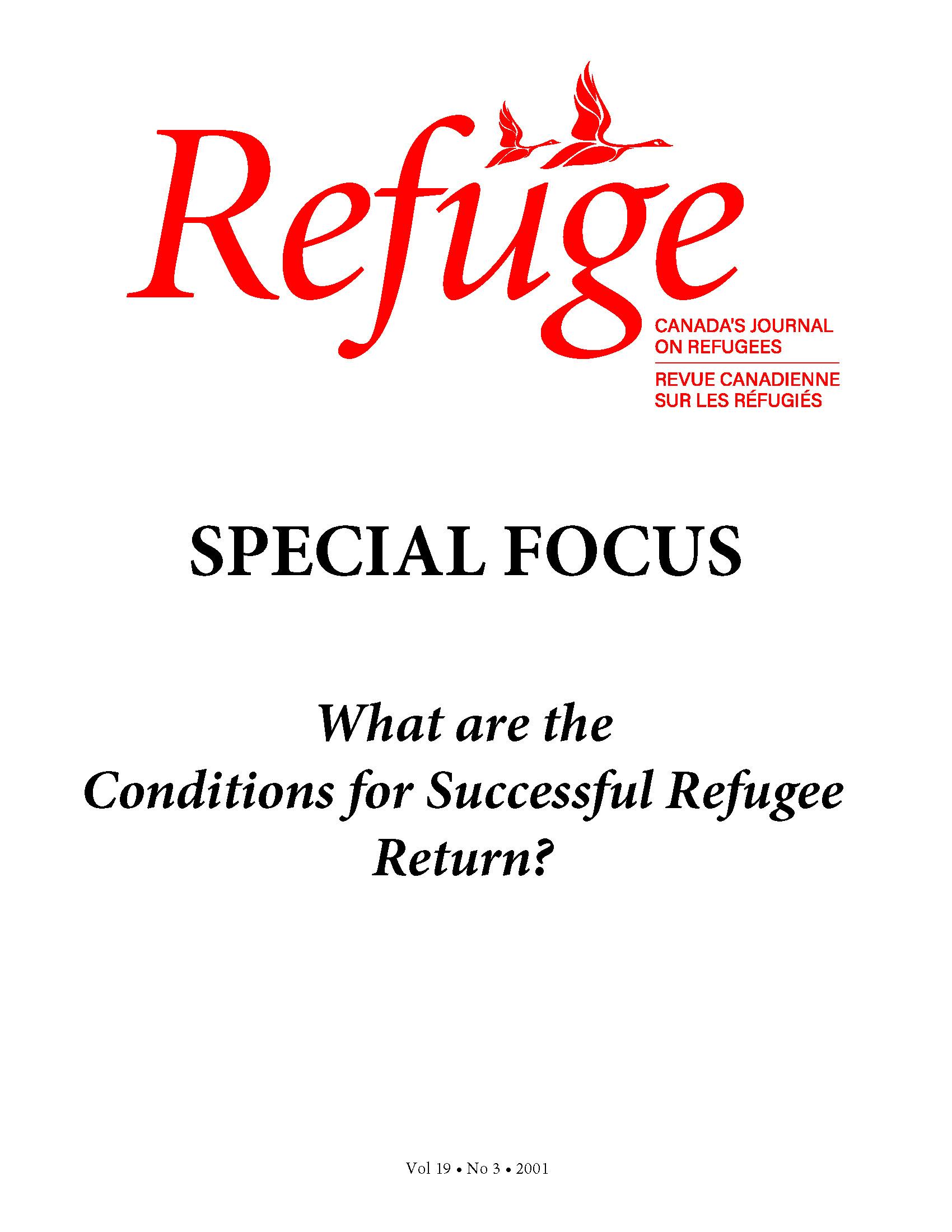 cover Refuge vol. 19.3 2001