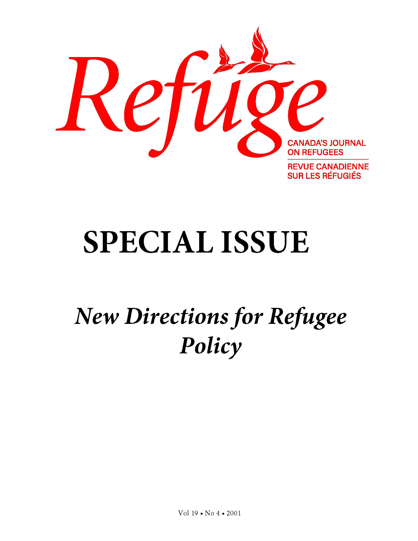 cover Refuge vol. 19.4 2001