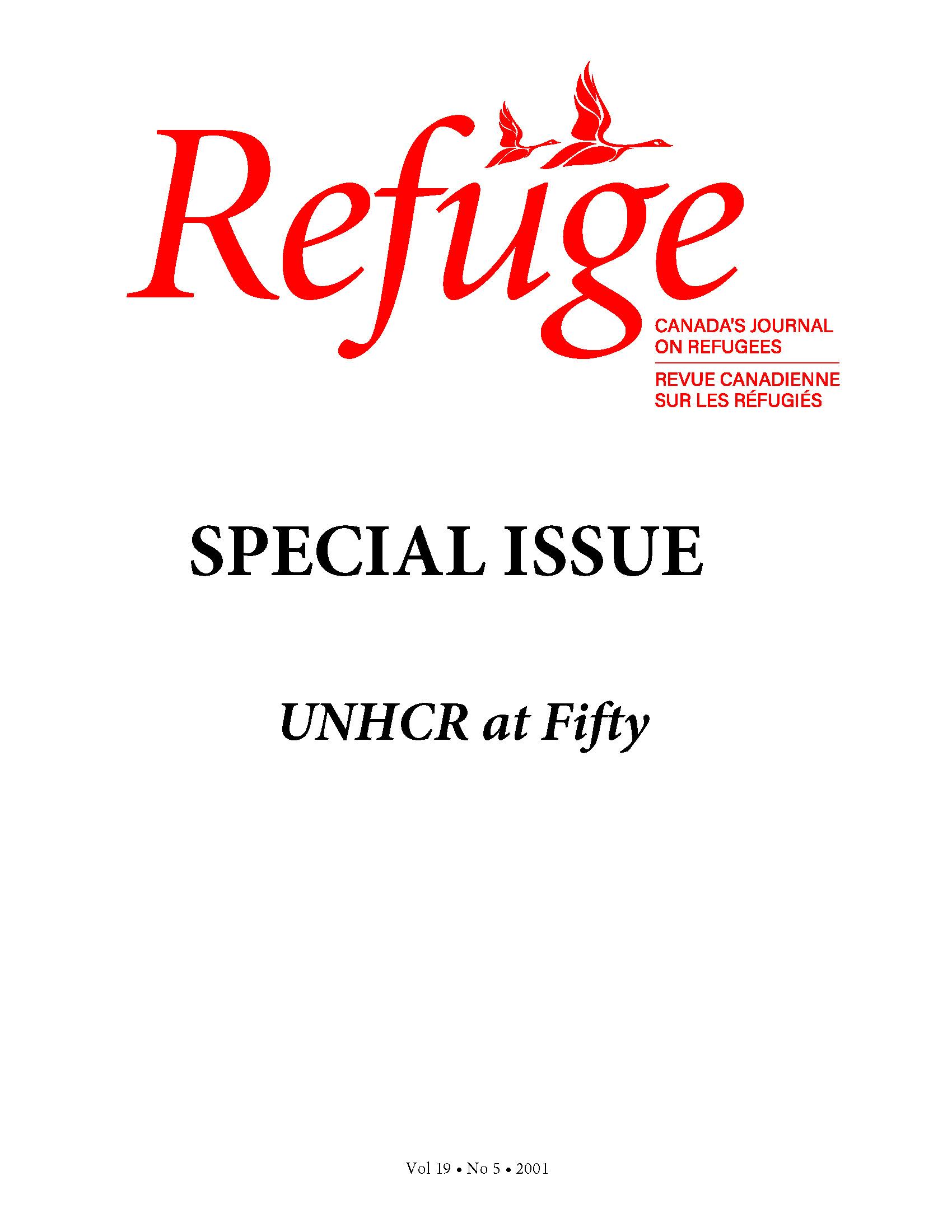 cover Refuge vol. 19.5 2001