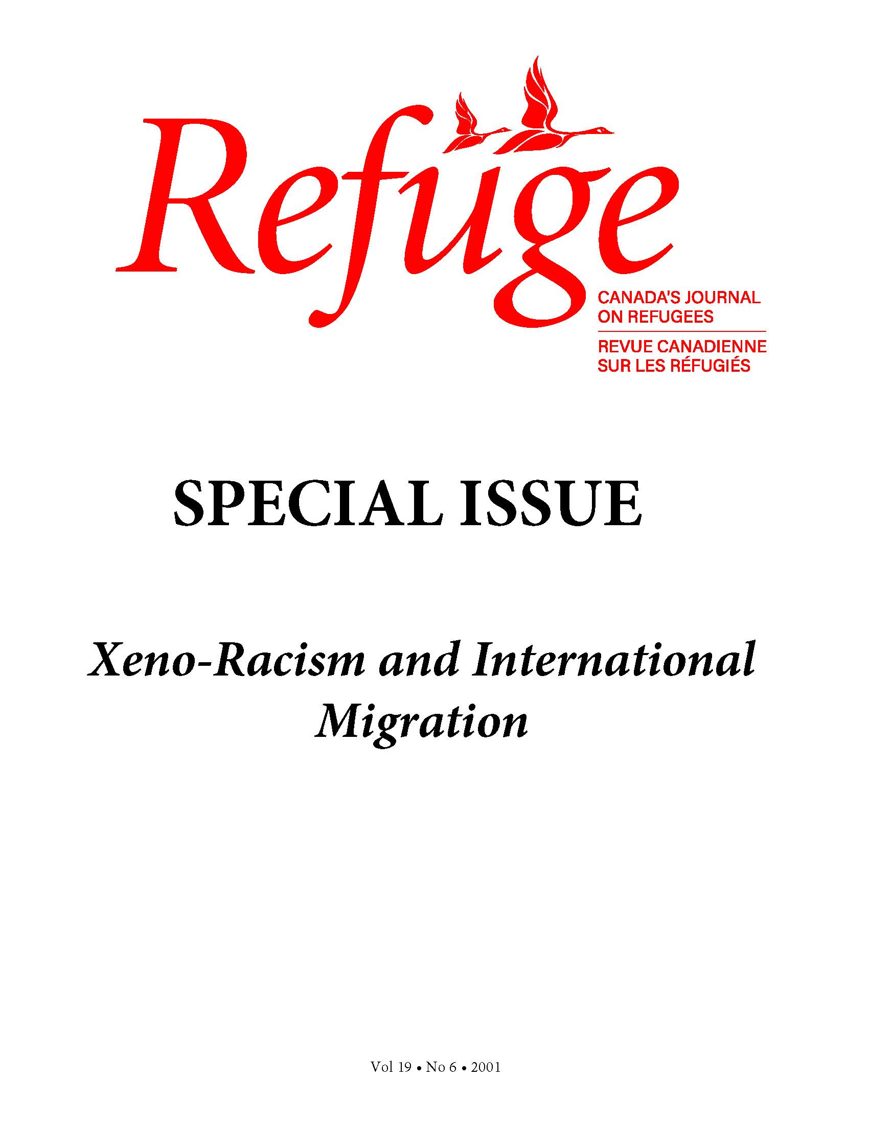 cover Refuge vol. 19.6 2001