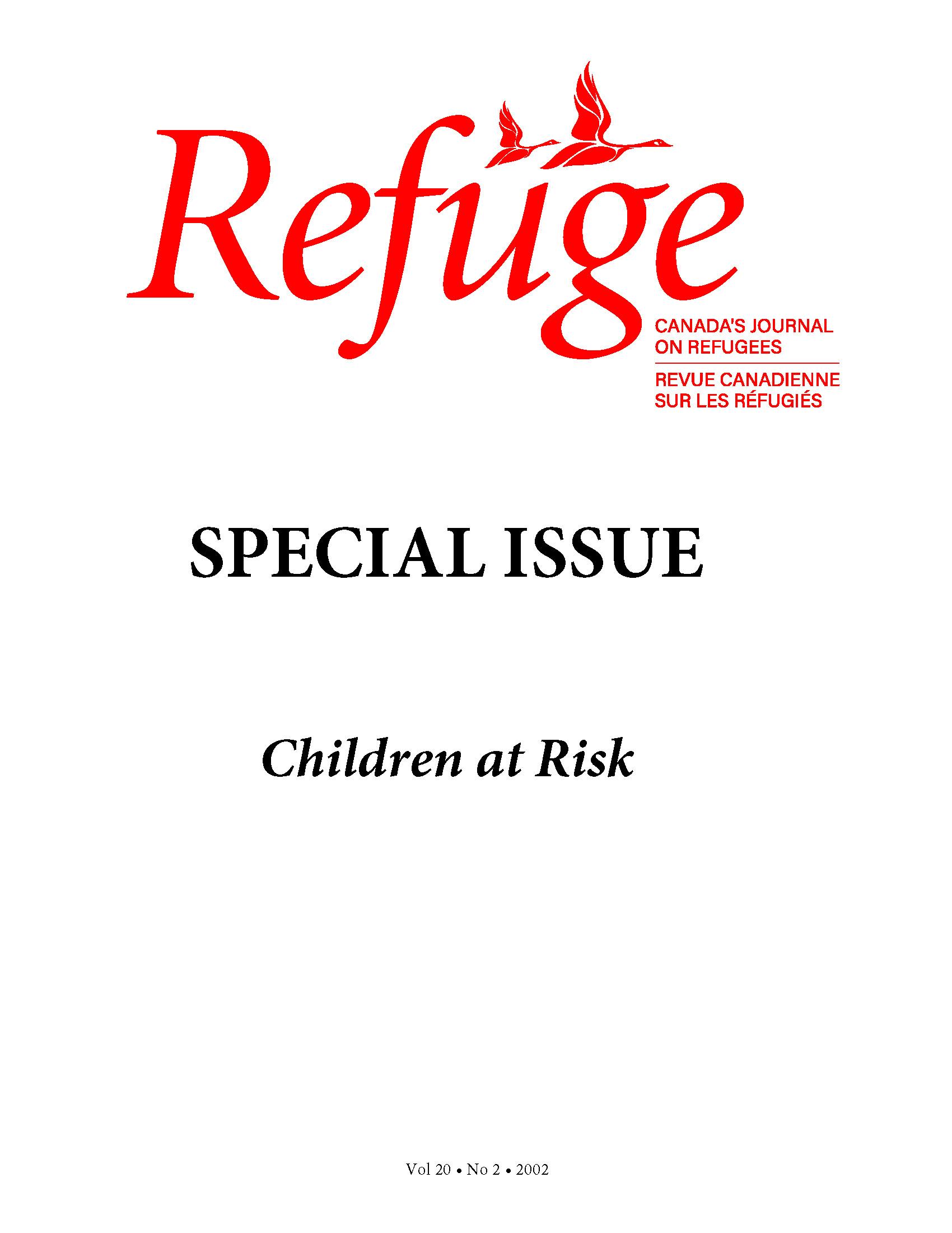 cover Refuge vol. 20.2 2002