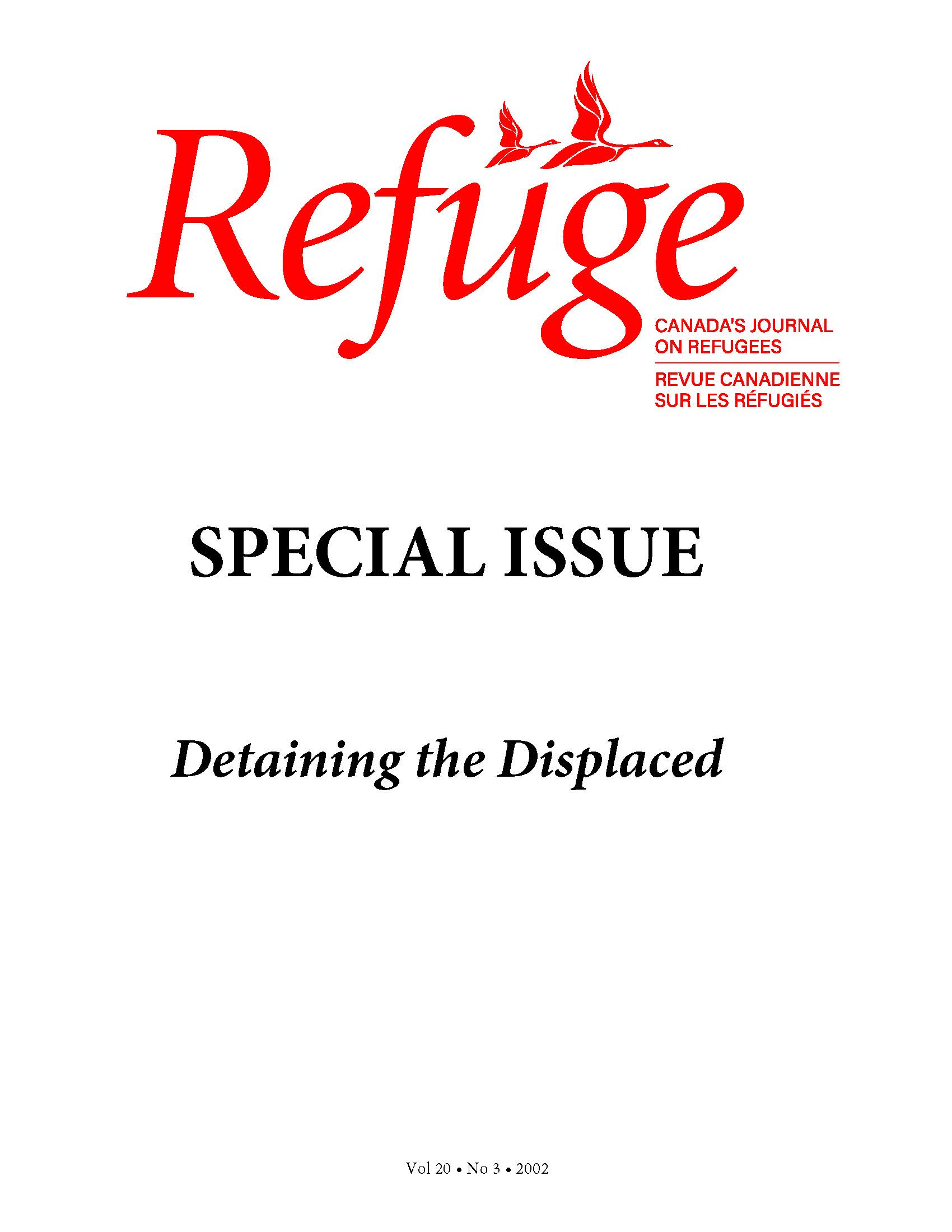 cover Refuge vol. 20.3 2002