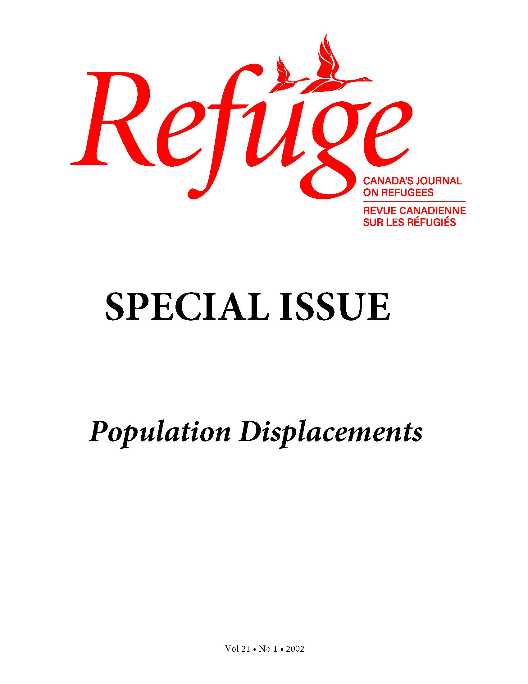 cover Refuge vol. 21.1 2002