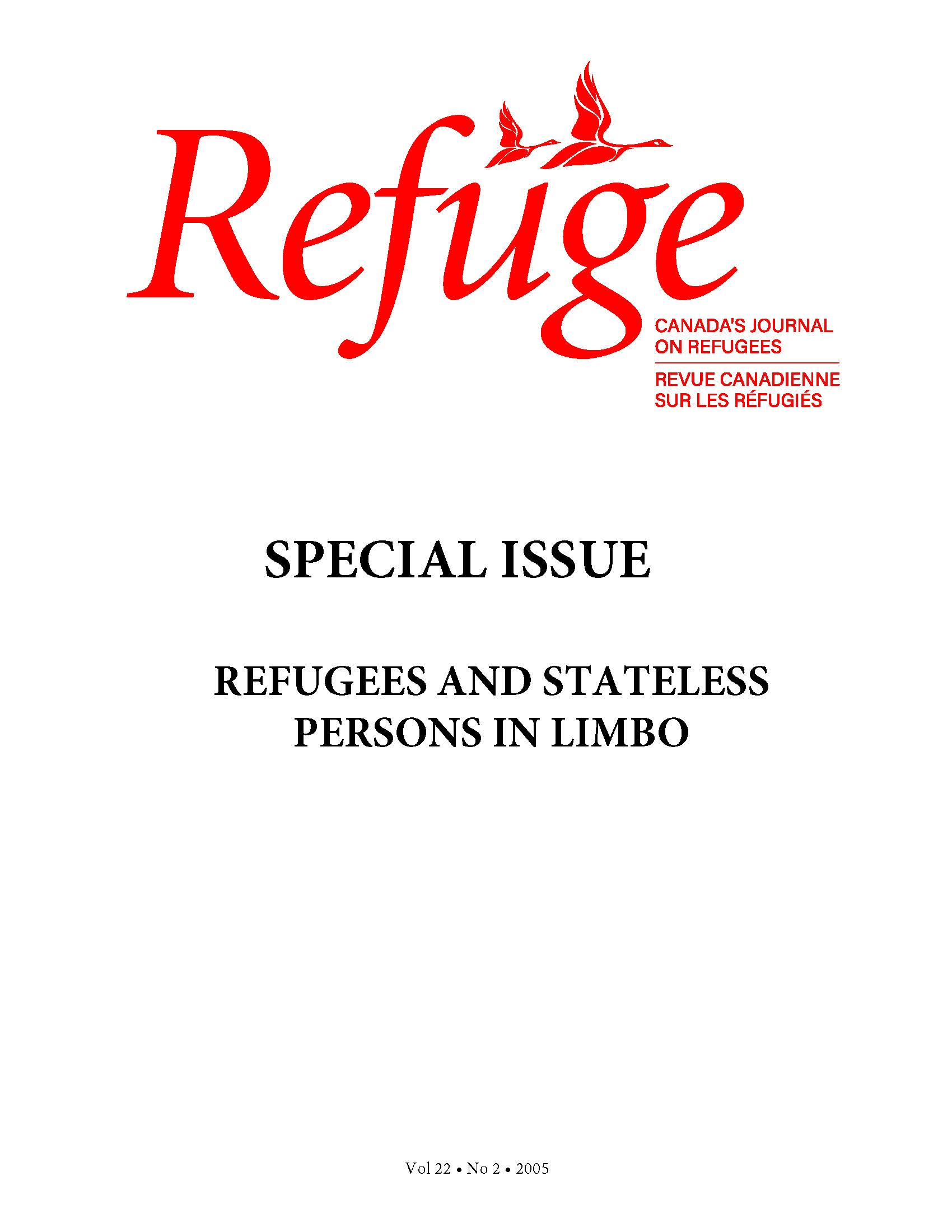 cover Refuge vol. 22.2 2005