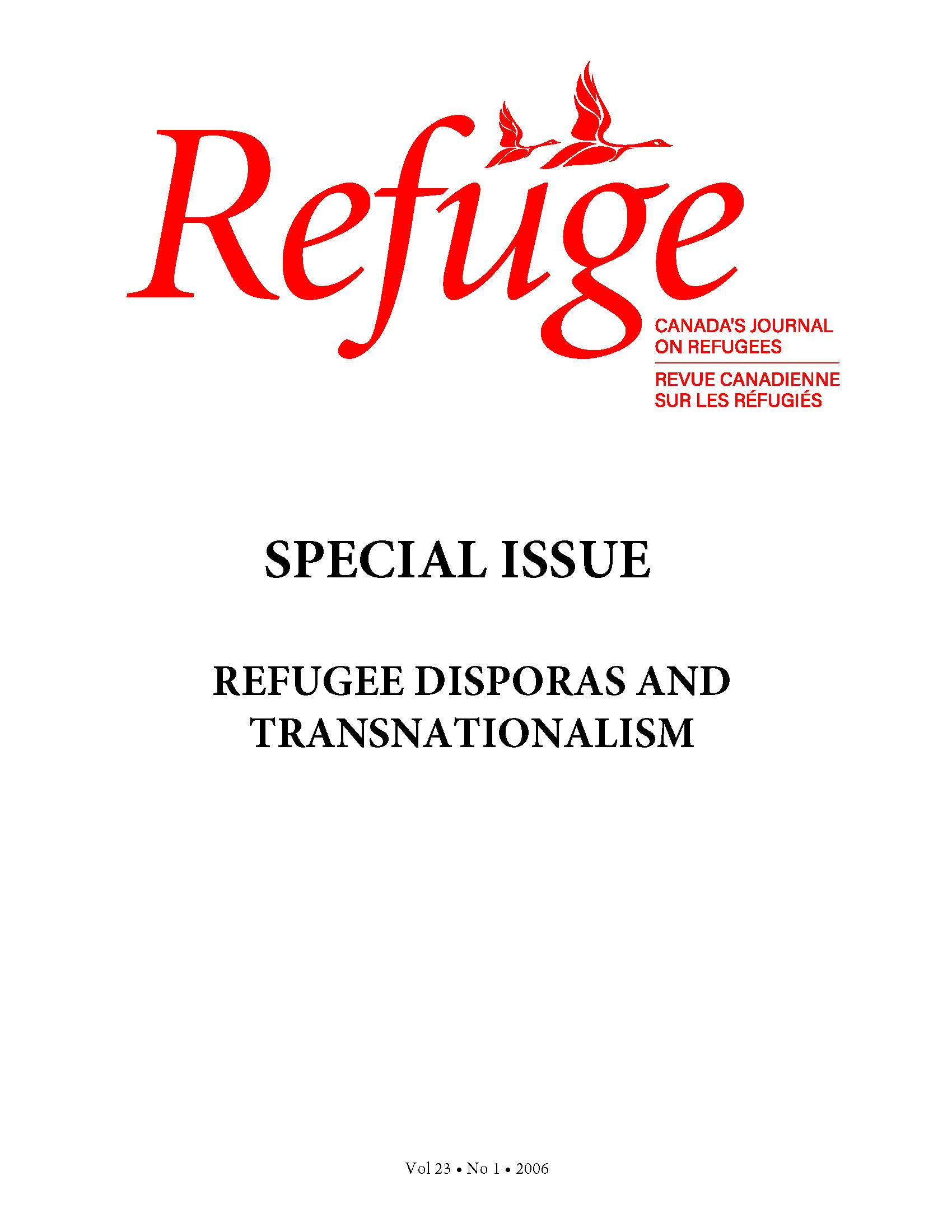 cover Refuge vol. 23.1 2006
