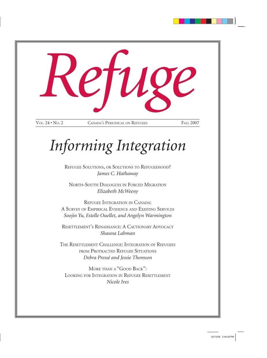 cover Refuge vol. 24.2 2007