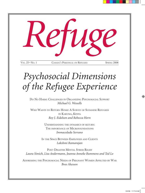 cover Refuge vol. 25.1 2008