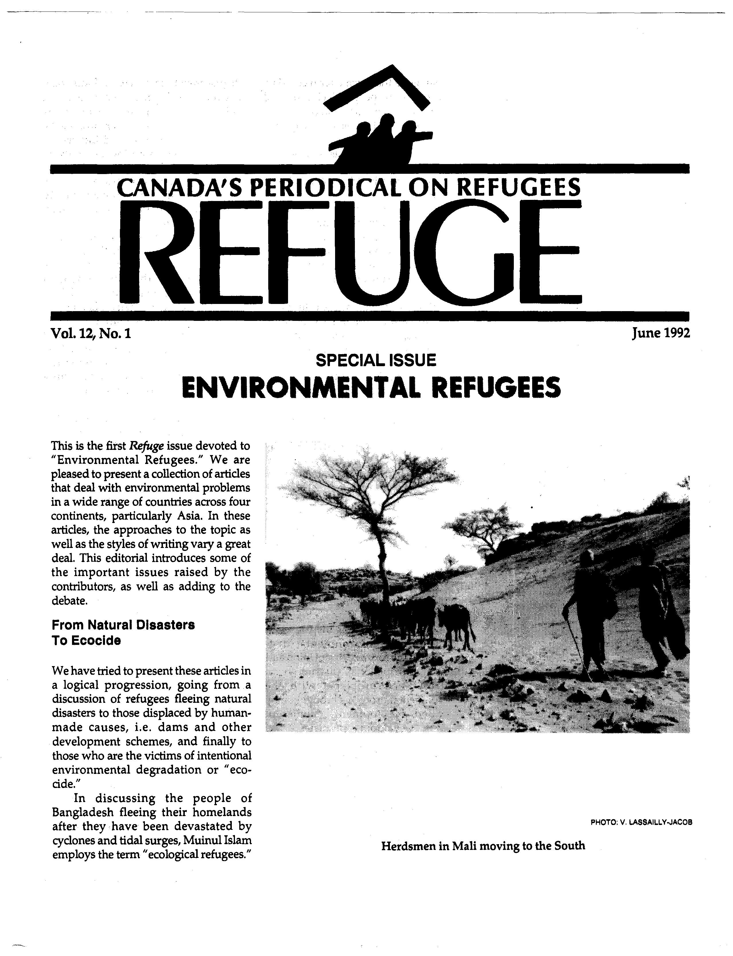 first page Refuge vol. 12.1 1992