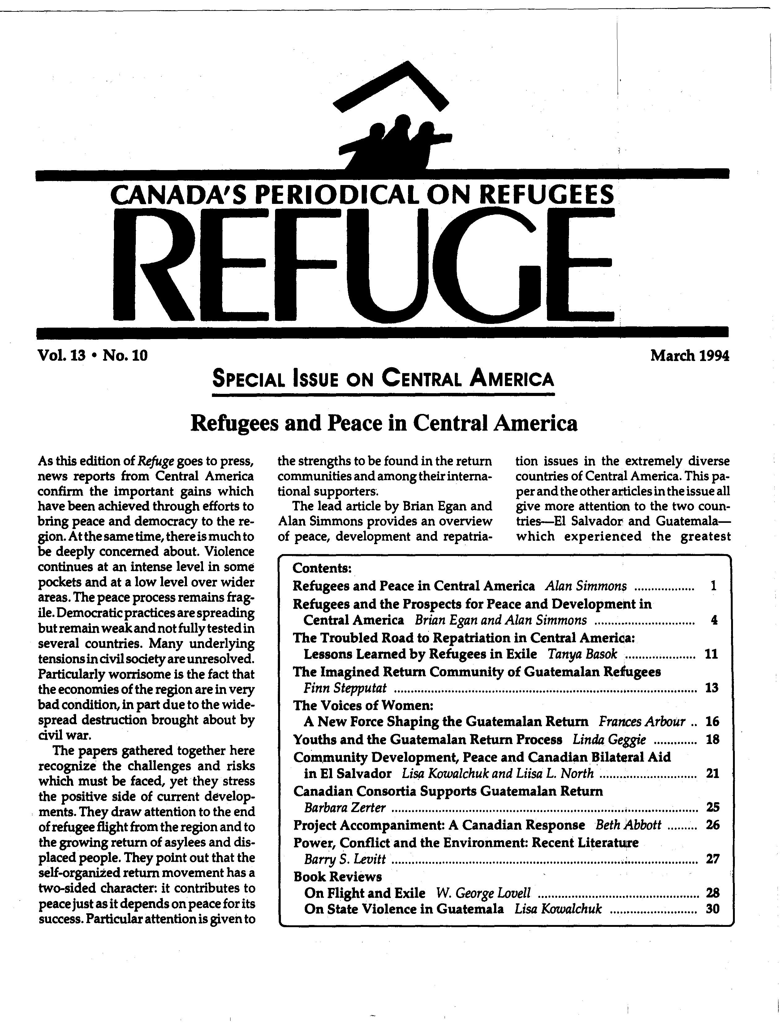first page Refuge vol. 13.10 1994