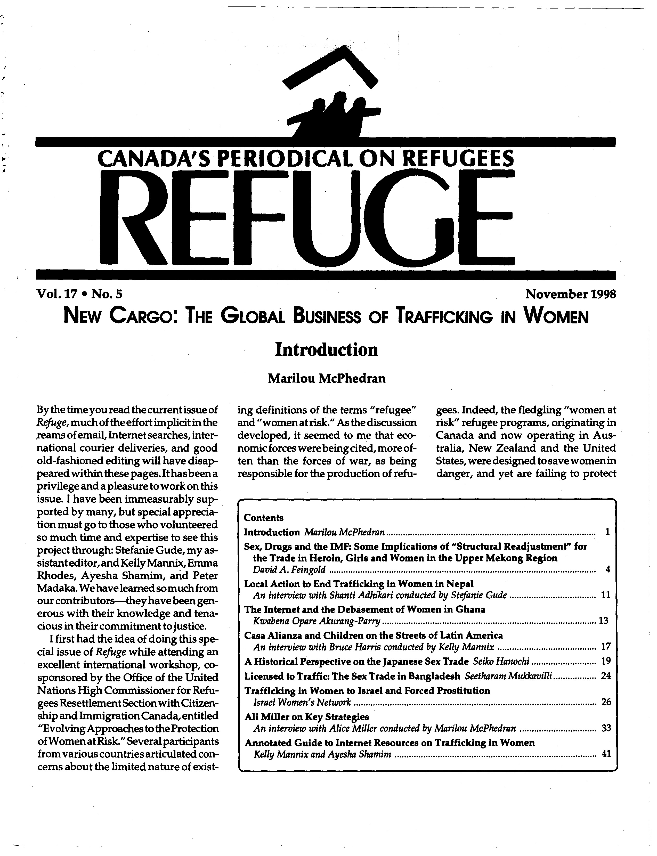 first page Refuge vol. 17.5 1998