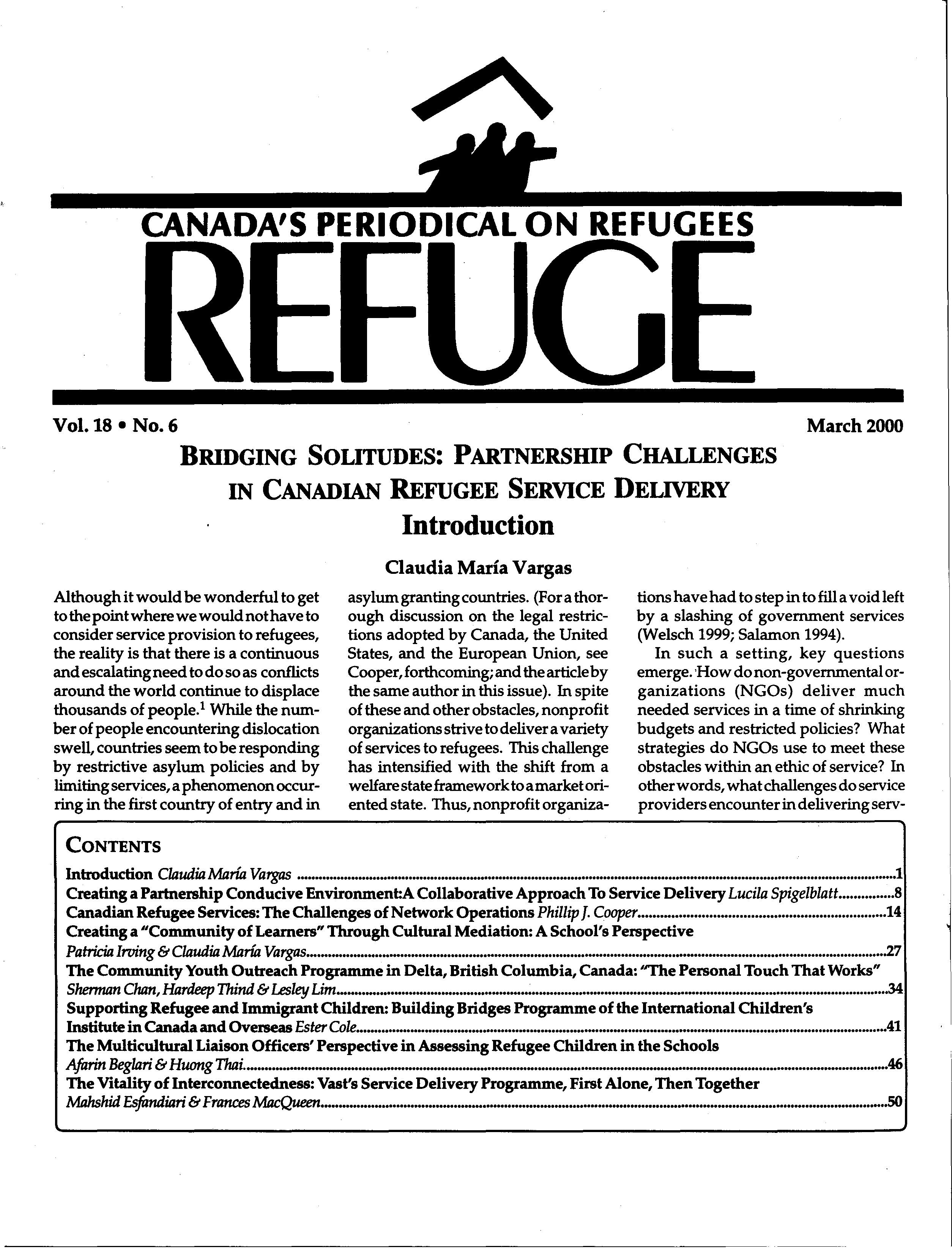 first page Refuge vol. 18.6 2000