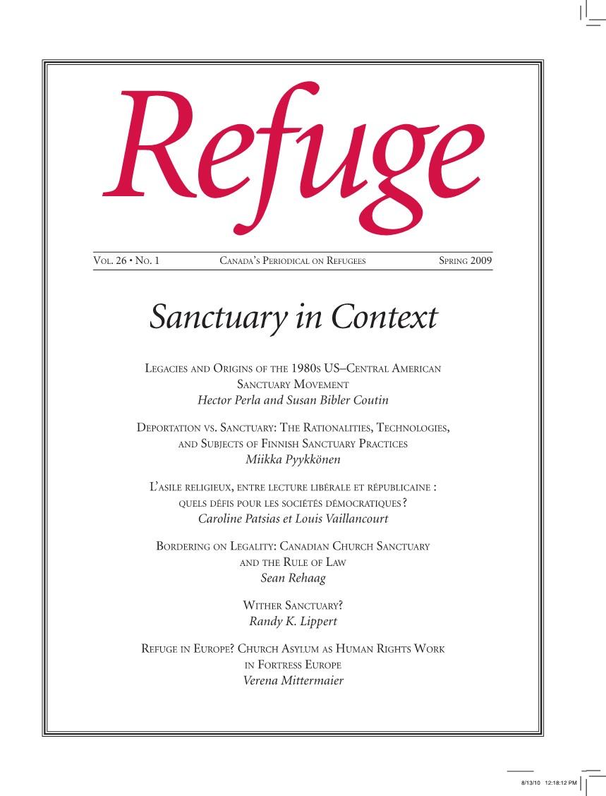 cover Refuge vol. 26.1 2010