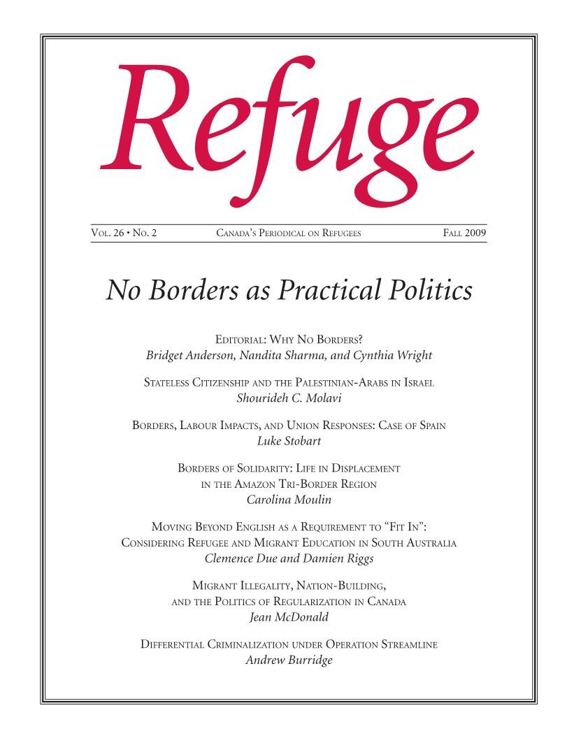 cover Refuge vol. 26.2 2011