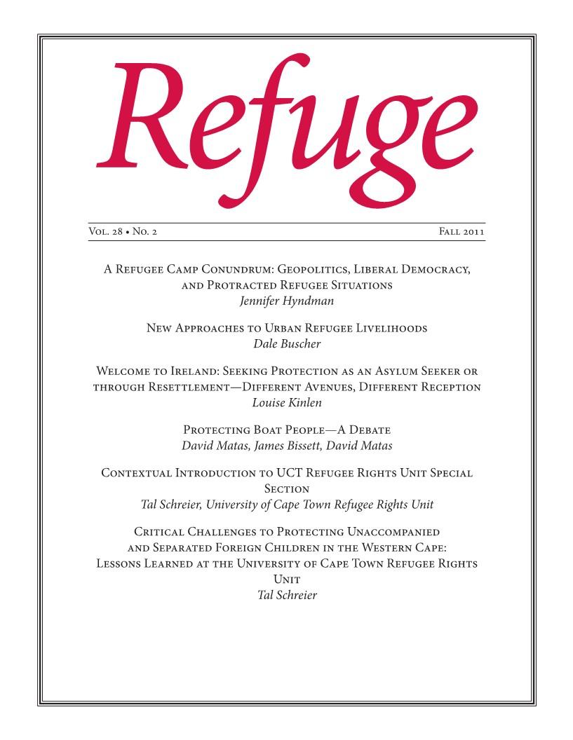 cover image Refuge 28.2 2011