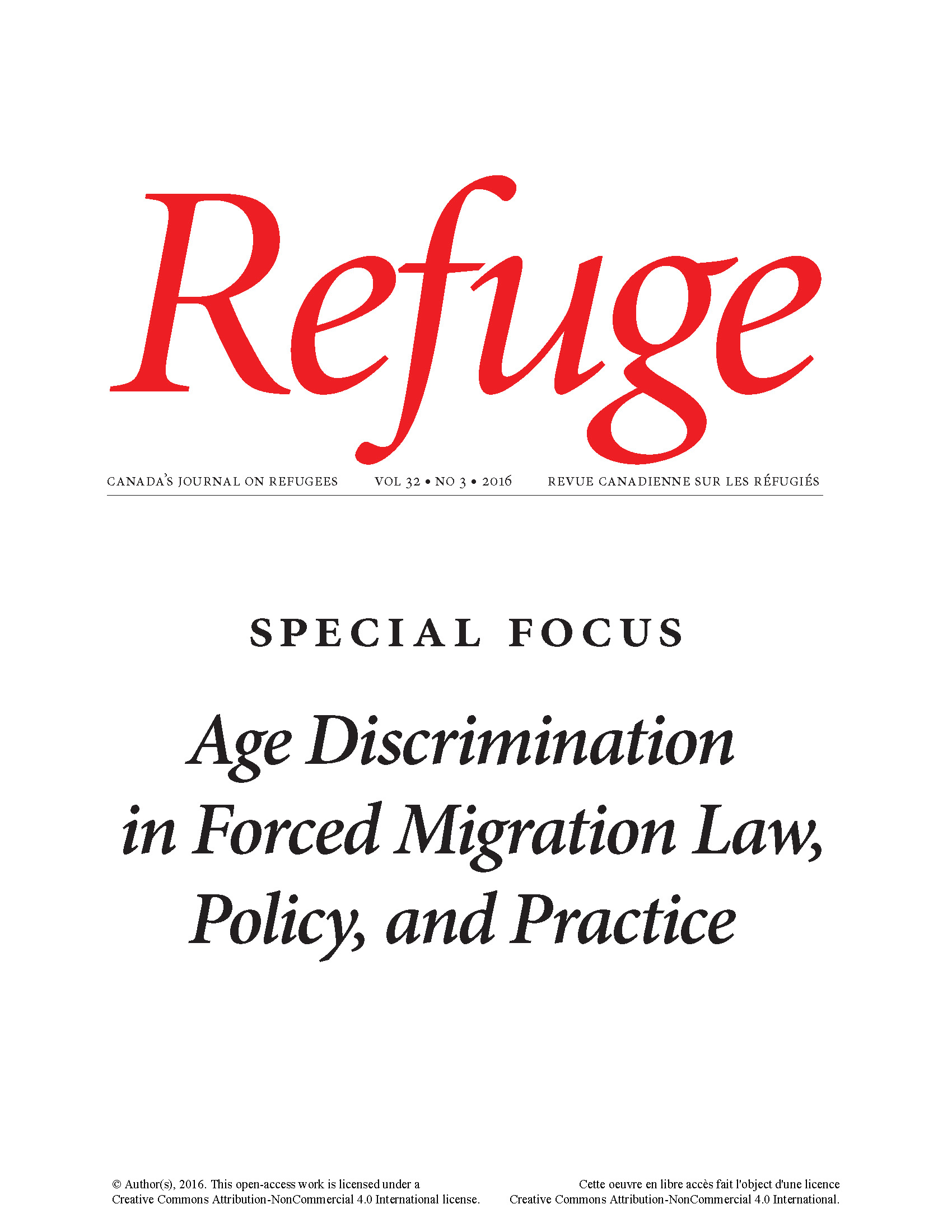 cover image of Refuge issue with special focus on age discrimination