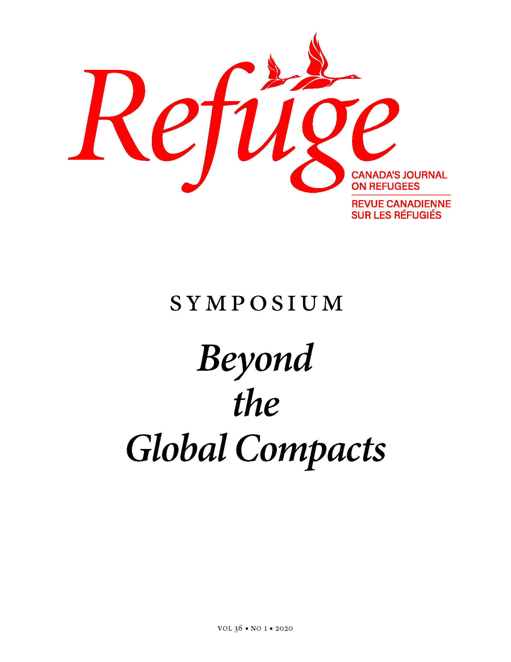 View Vol. 36 No. 1 (2020): General Issue with Symposium: Beyond the Global Compacts