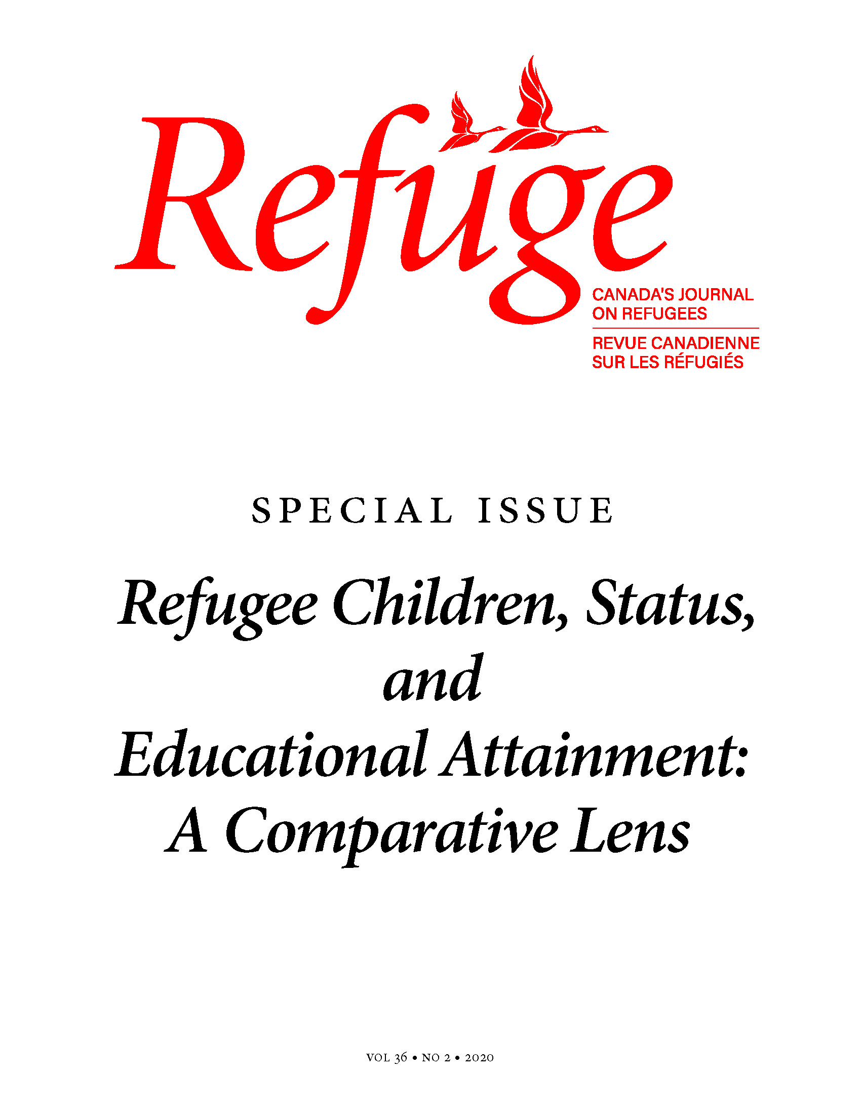 cover image of Refuge special issue on refugee children