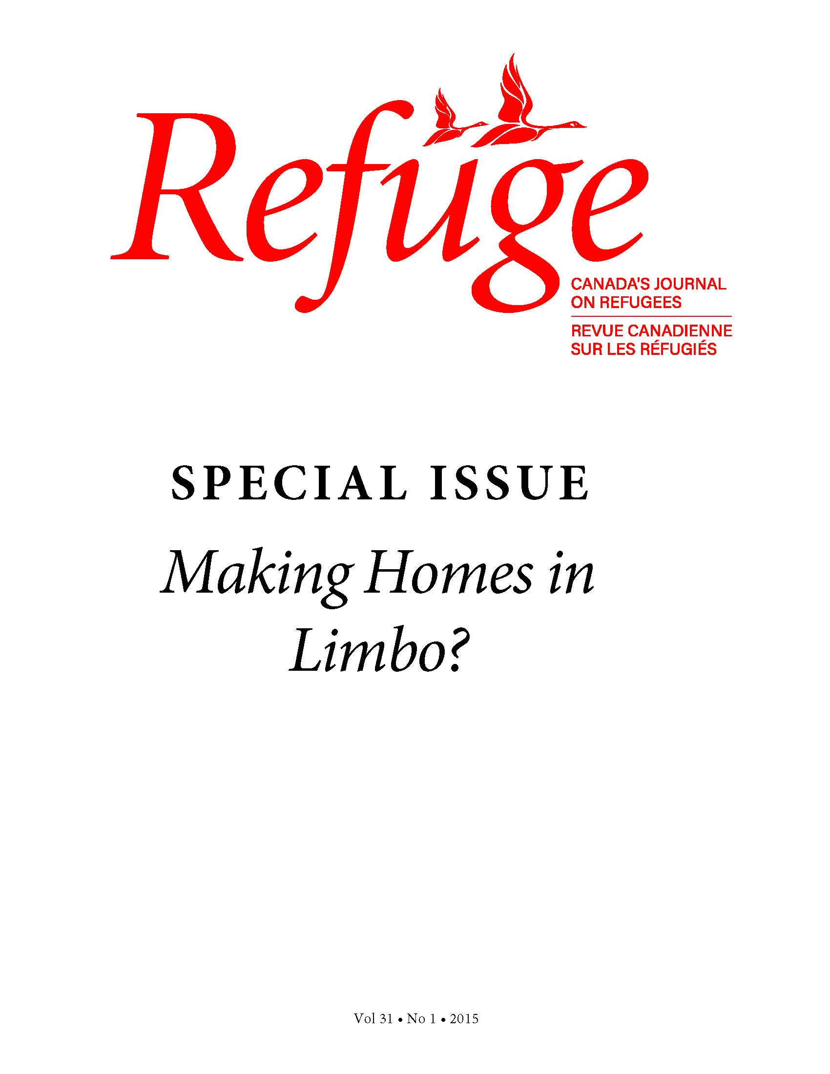 cover Refuge 31.1 2015