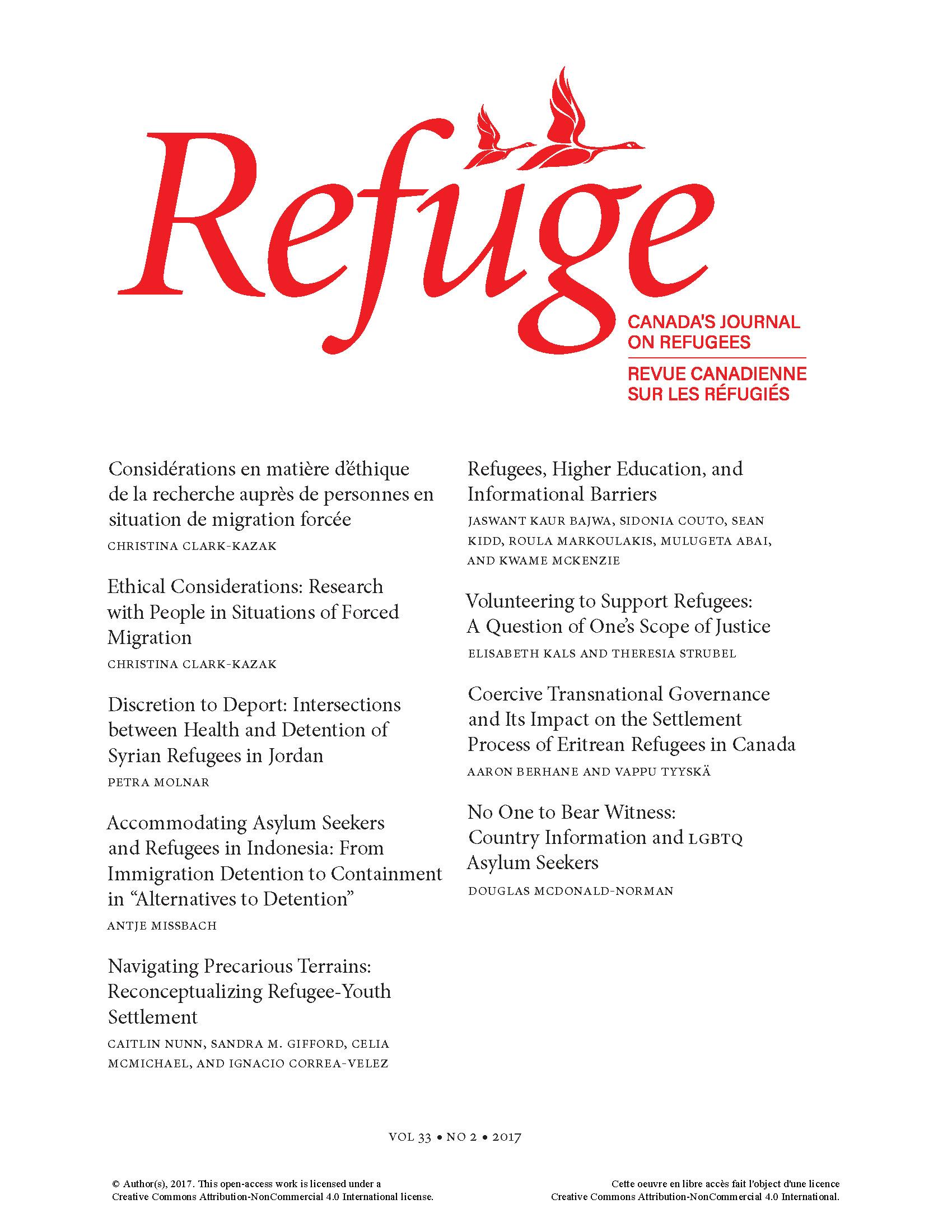 cover Refuge 33.2 2017