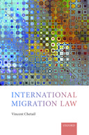 "An abstract square image, book cover for ""International Migration Law"" by International Migration Law by Vincent Chetail"